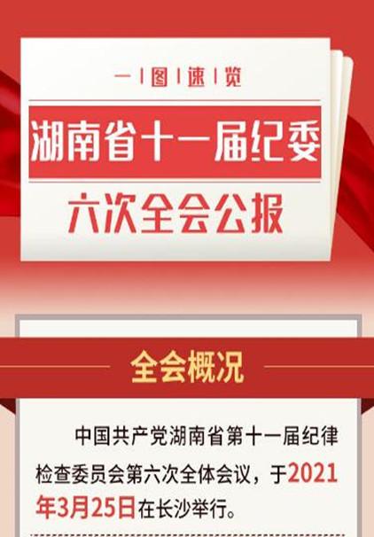 一图速览丨湖南省十一届纪委六次全会公报