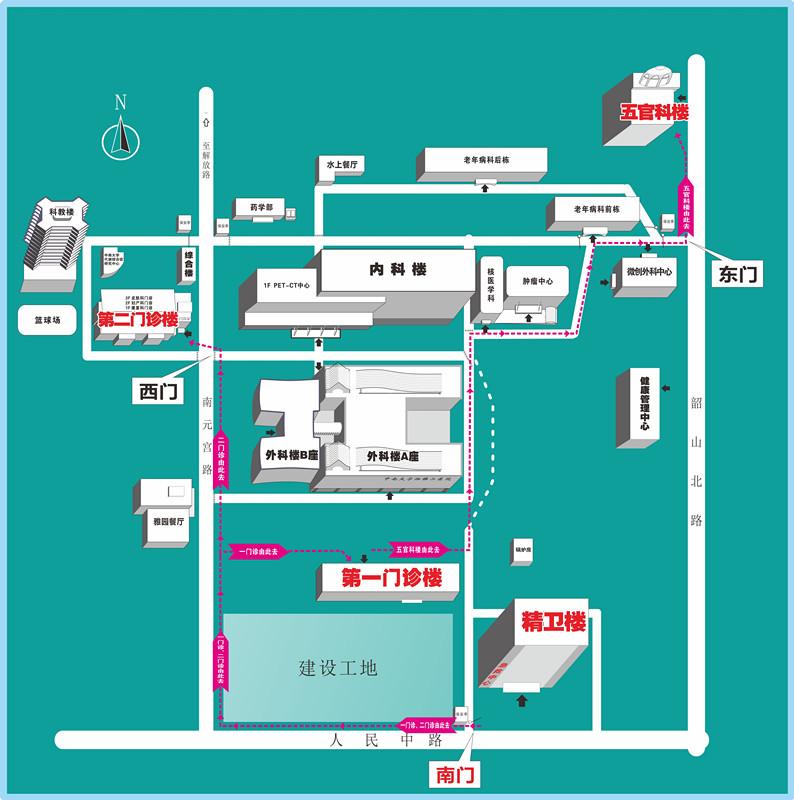 看清这张图,去湘雅二医院就诊更方便