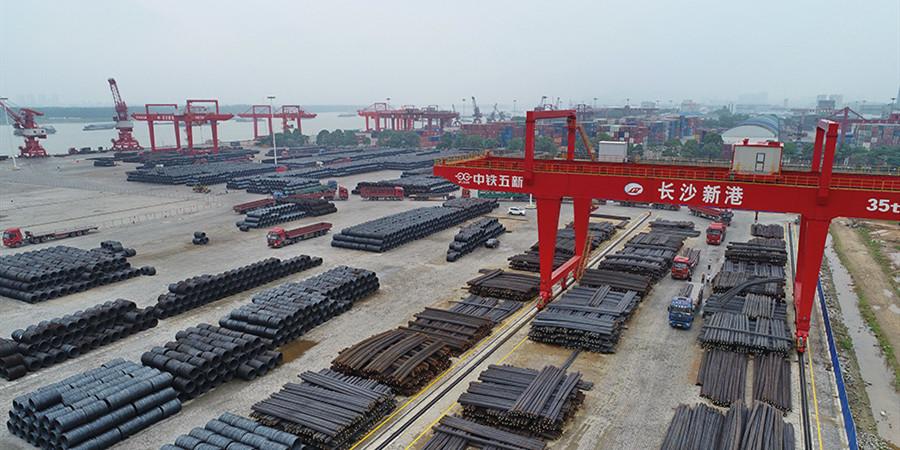 长沙新港件杂散货吞吐量创新高