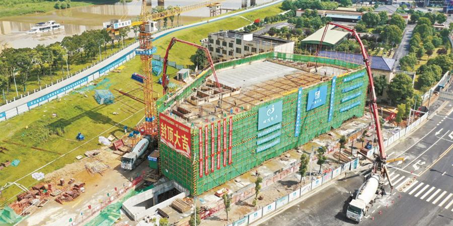 马栏山北区能源站主体封顶