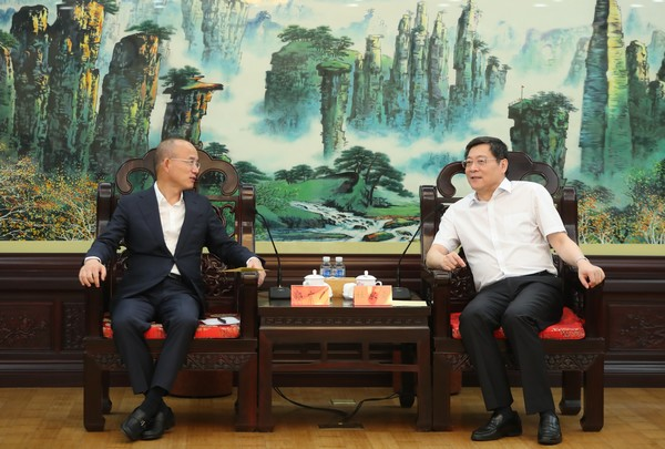 杜家毫许达哲分别与复星国际董事长郭广昌会谈