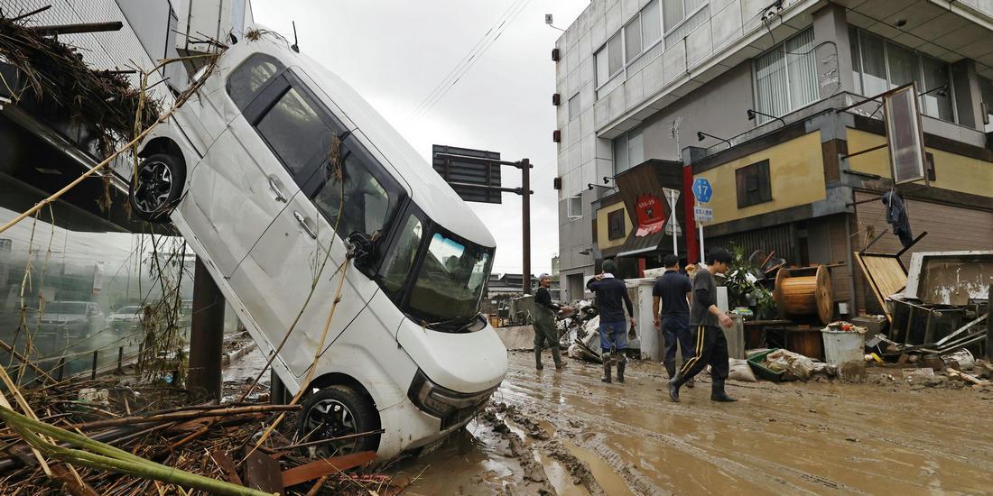 日本九州暴雨已致55人死亡 搜救工作仍在继续