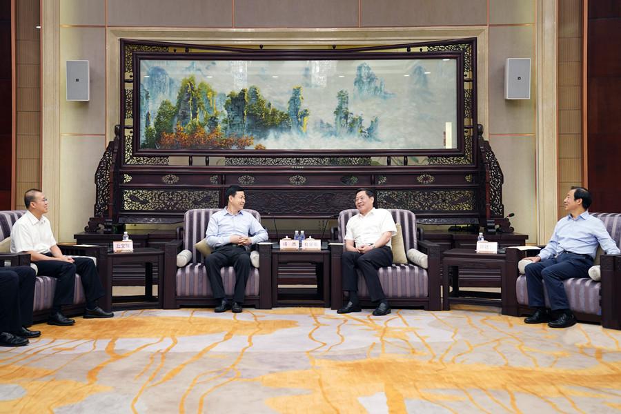 杜家毫许达哲与中国移动董事长杨杰座谈