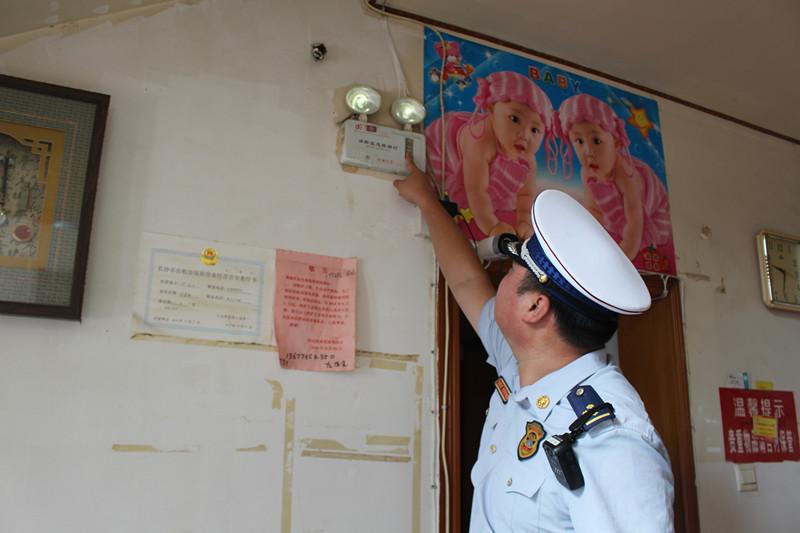 长沙开福区消防联合多部门开展家庭旅馆消防安全检查