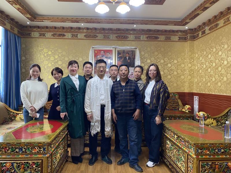 藏医医院迎来了湖南老朋友,省肿瘤医院慰问援藏职工