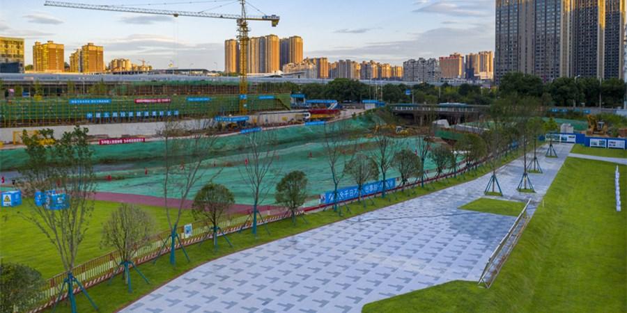 海绵城市建设圭塘河项目示范段完工