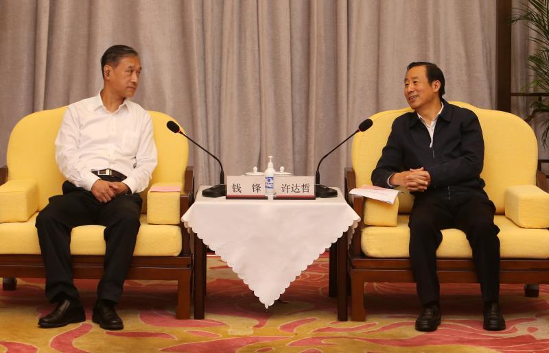 退役军人事务部来湘调研慰问 许达哲与钱锋一行会谈