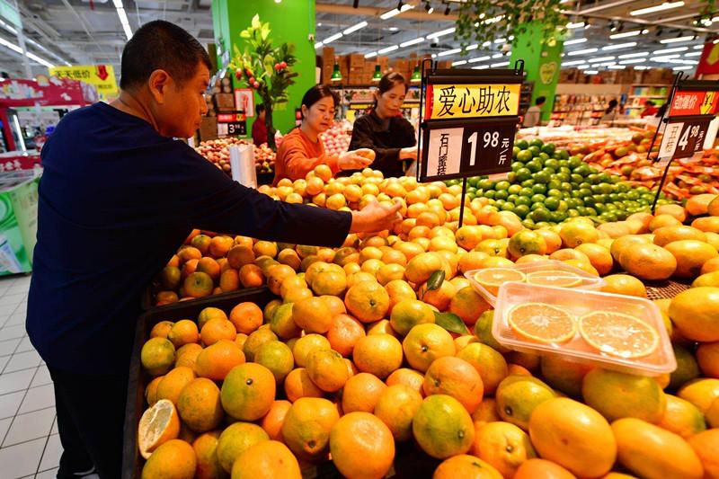 助农直采,石门柑橘在长沙超市上架