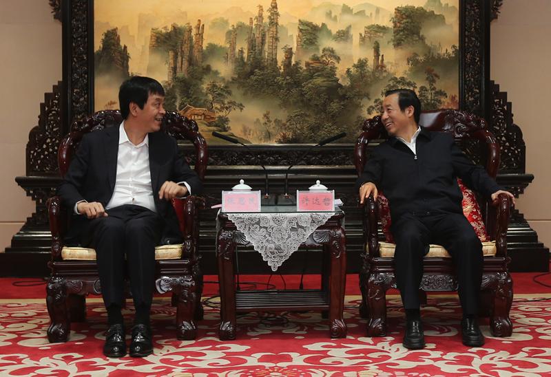 省政府与海王集团座谈 许达哲张思民出席