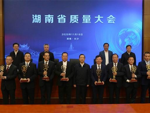 第六届湖南省省长质量奖出炉 许达哲颁奖并讲话