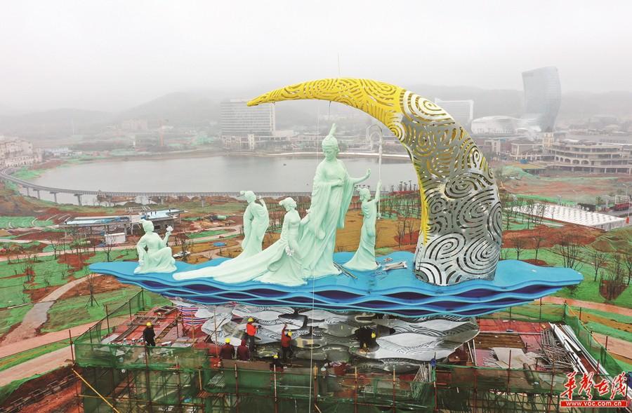 湘江女神公园主体完工