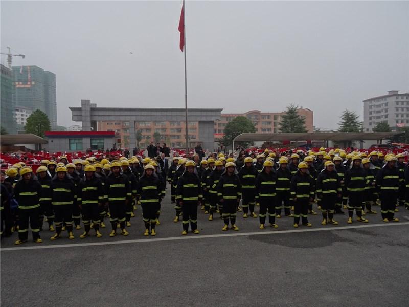 邵阳:125台救援车辆8000套装备增援基层消防