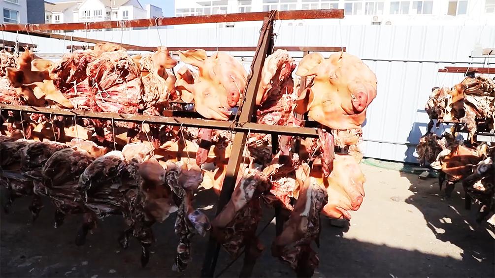 壕气!江苏女子家中挂4000个猪头