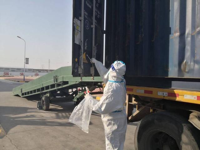 口岸货物预防性消毒,长沙严防输入风险