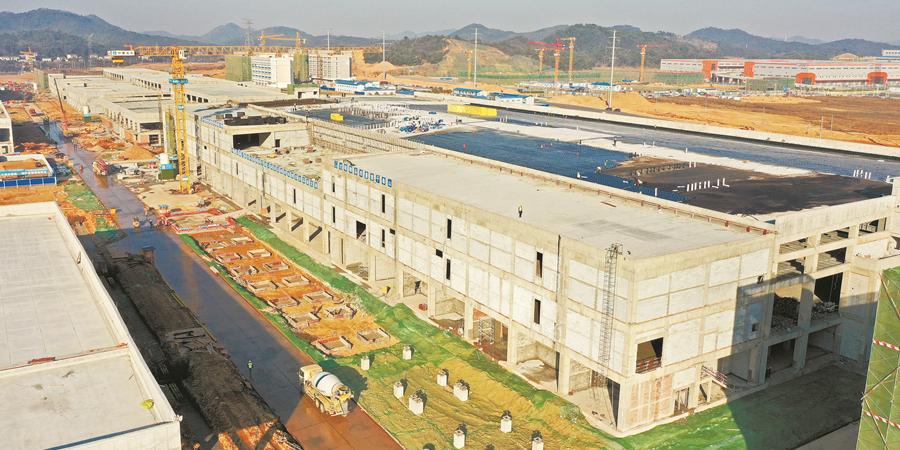 湖南首个第三代半导体项目芯片厂房封顶