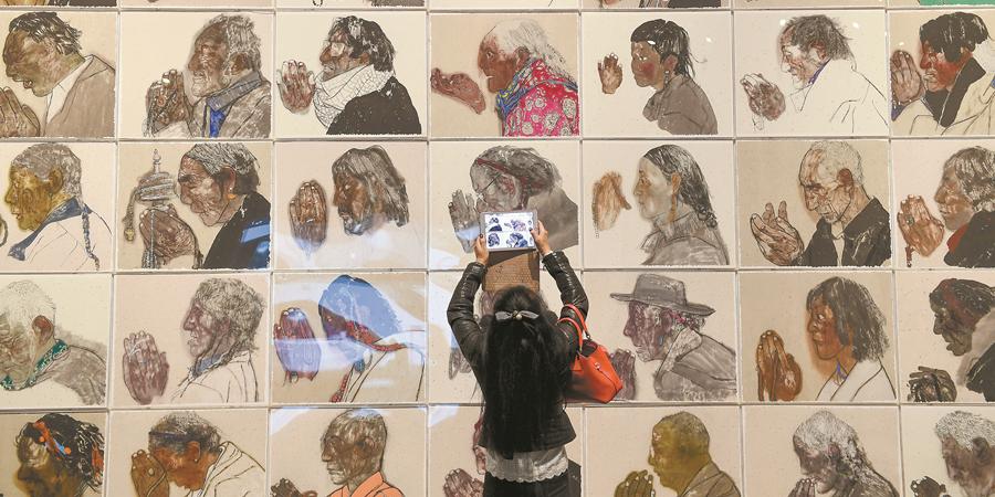"""第二届""""湖南·中国画双年展""""展出"""
