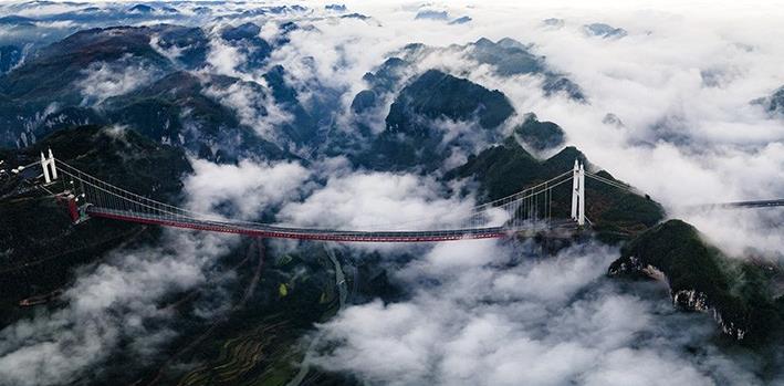 云端上的矮寨大桥