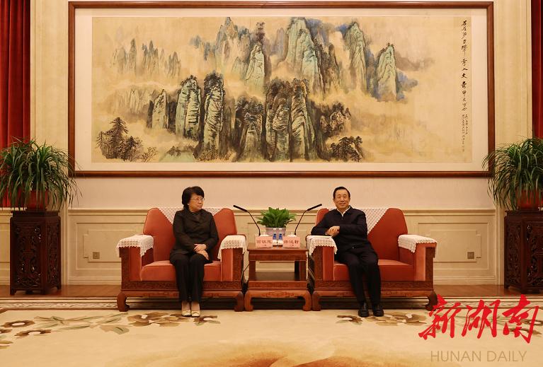许达哲与翁铁慧一行座谈 新湖南www.hunanabc.com