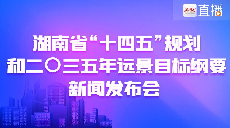 """直播回顾>>湖南省""""十四五""""规划和二〇三五年远景目标纲要出炉"""