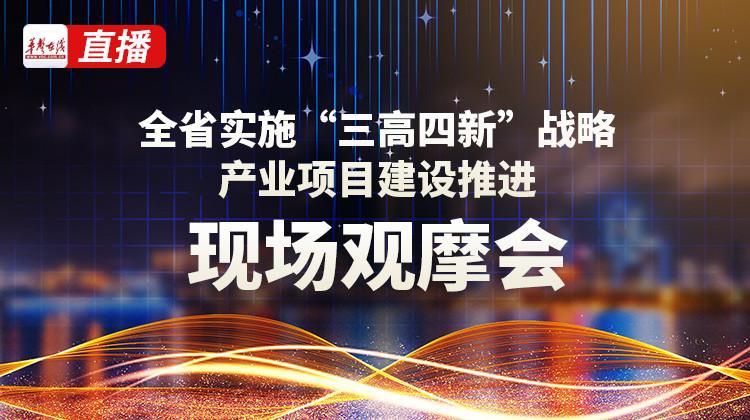"""直播回顾>>湖南省实施""""三高四新""""战略产业项目建设推进现场观摩会"""