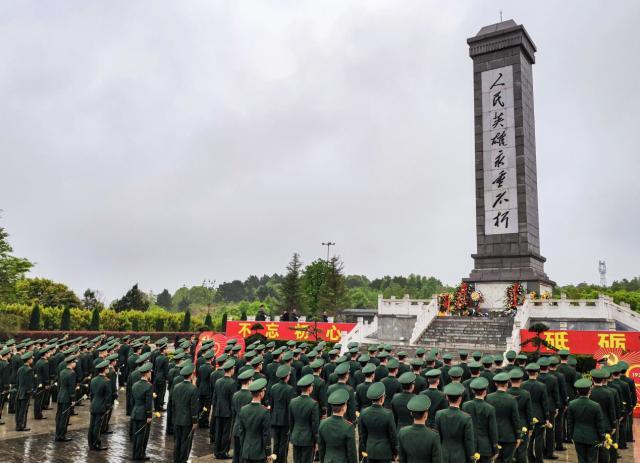 祭奠革命英魂,湖南多地武警组织清明祭扫活动