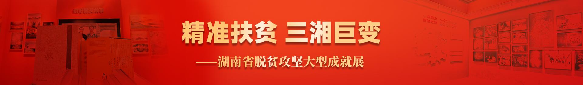 精准扶贫 三湘巨变——湖南省脱贫攻坚大型成就展