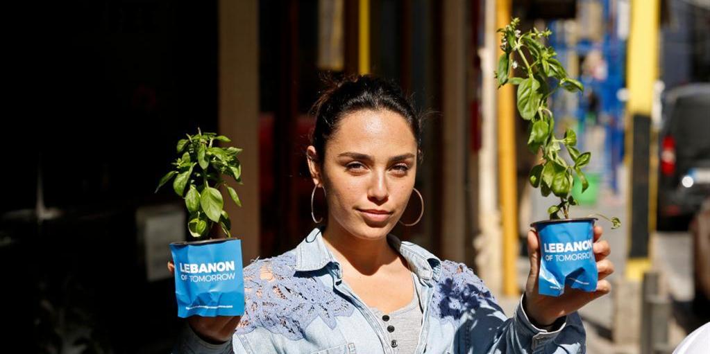 黎巴嫩:地球日送秧苗