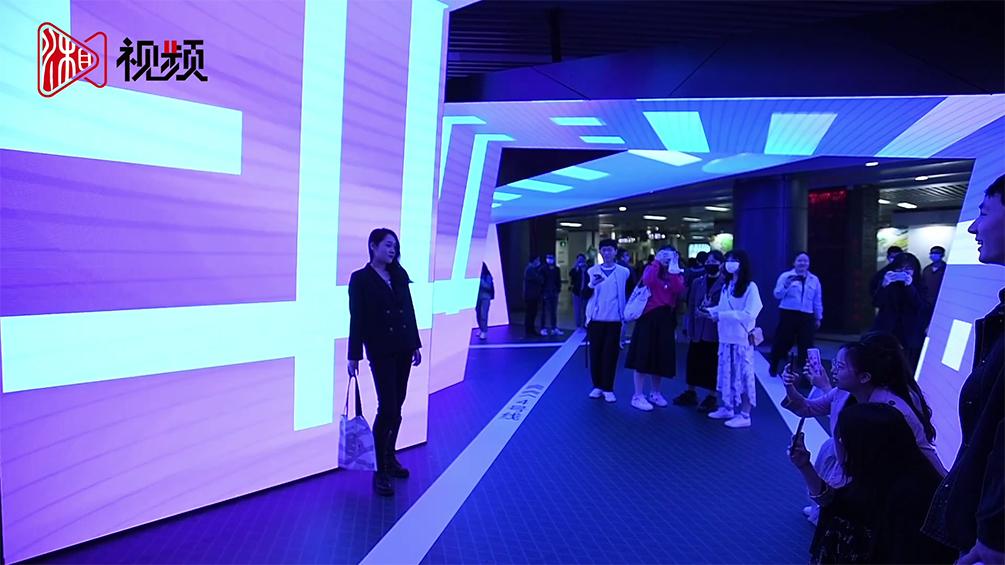 长沙地铁数字艺术馆亮相