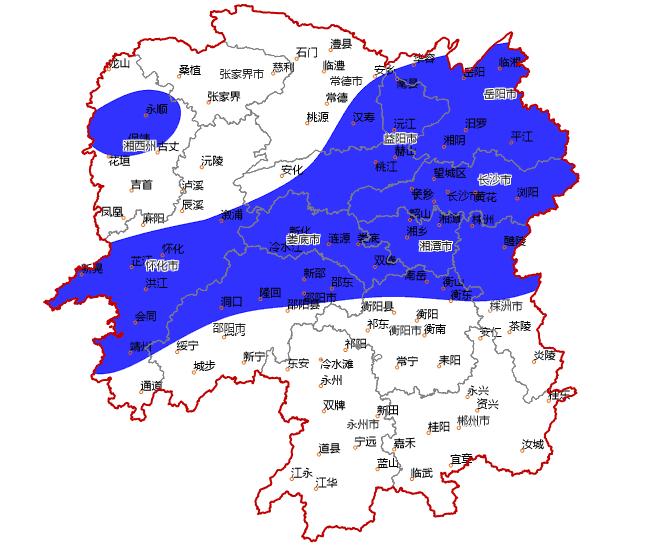 强对流蓝色预警!湖南多地将出现8至10级雷暴大风或冰雹
