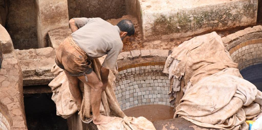 摩洛哥:非斯古城中的皮革染坊