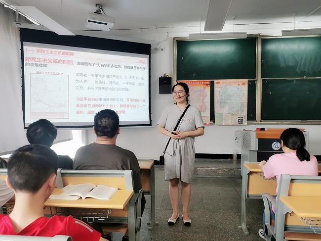 一张红图讲党课:湖南工程职院是这样做的