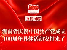 图解|湖南省庆祝中国共产党成立100周年具体活动安排来了