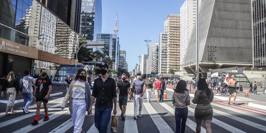 巴西圣保罗重新开放市民休闲大道