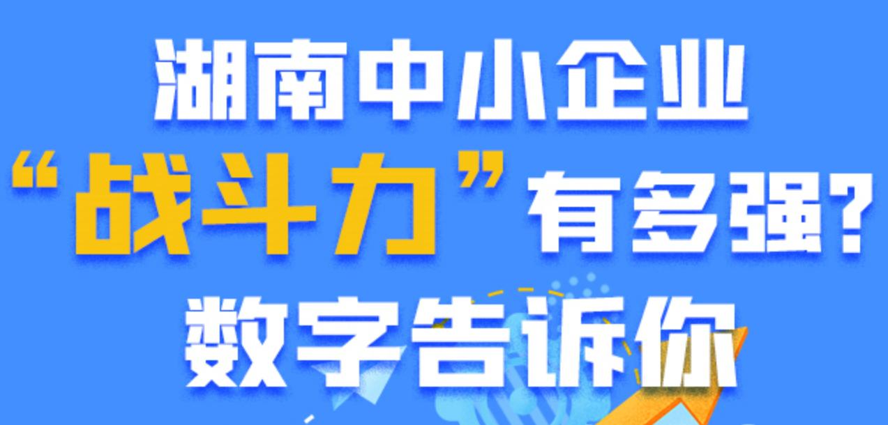 """湖南中小企业""""战斗力""""有多强?数字告诉你"""