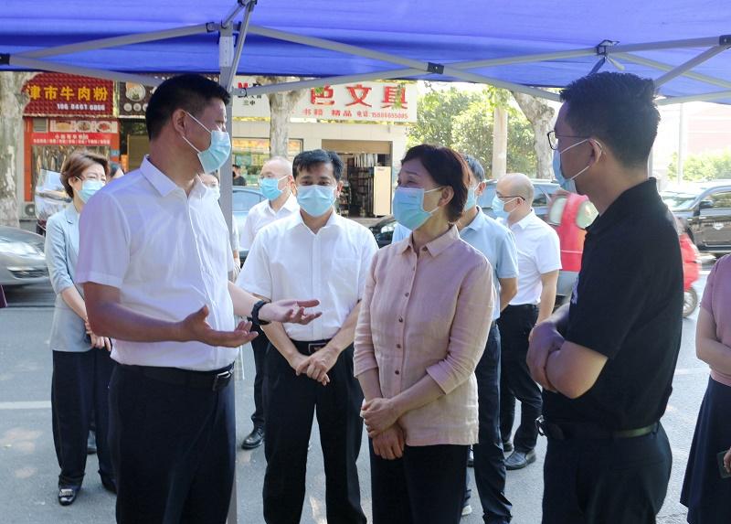 李微微率省委第一督导组在常德督导检查疫情防控工作