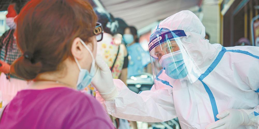 长沙中风险地区开展全员核酸检测