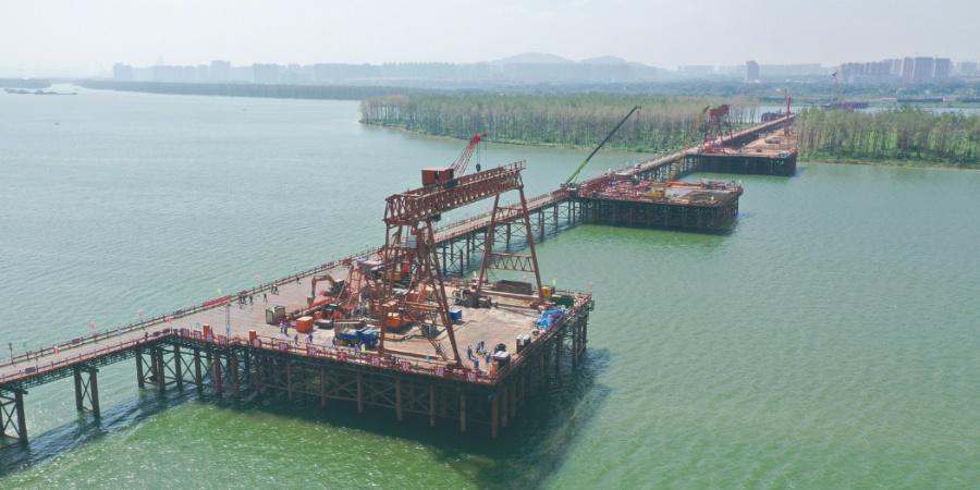 香炉洲大桥开始主墩桩基施工