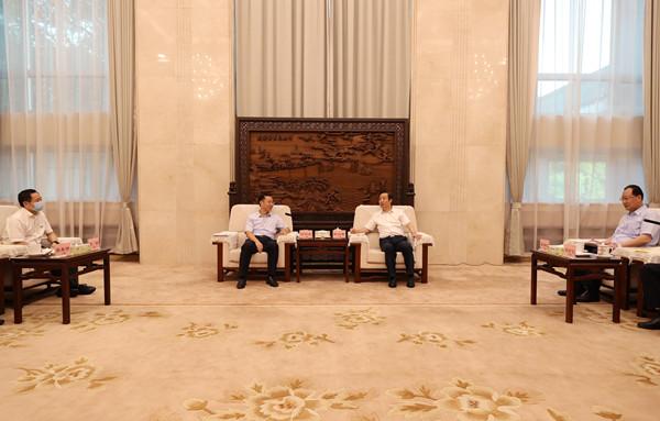 许达哲毛伟明与刘烈宏一行座谈