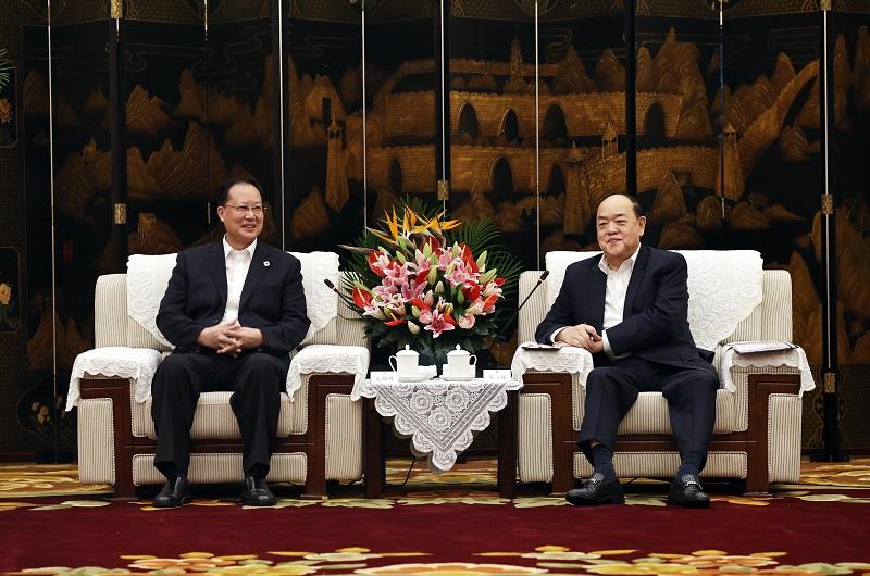 湖南省同澳門特別行政區舉行行政首長會晤 毛偉明賀一誠出席并講話