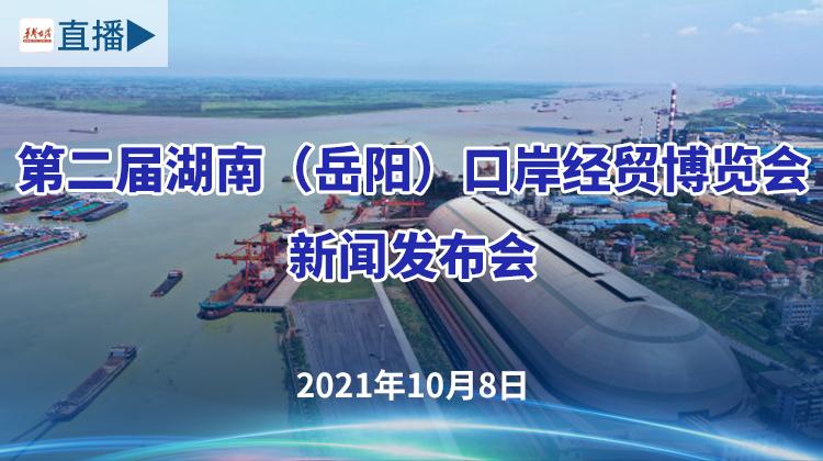 直播回顾>>第二届湖南(岳阳)口岸经贸博览会新闻发布会