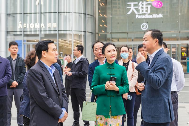 国务院发展研究中心副主任王安顺一行考察龙湖长沙洋湖天街