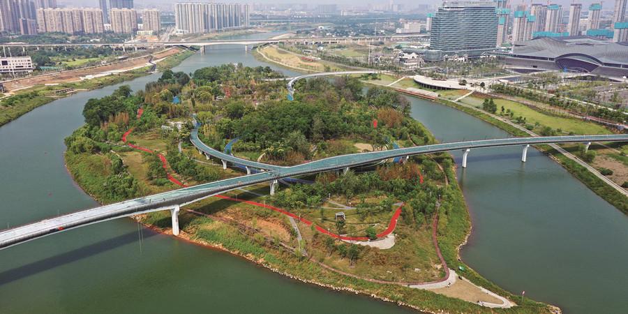 磨盘洲生态公园即将开放