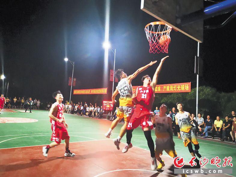 浏阳北盛镇村村有球场村级篮球比赛打出CBA联赛味道
