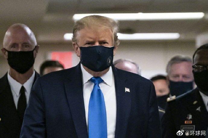 特朗普首次在公共场合戴上口罩:访问华盛顿郊