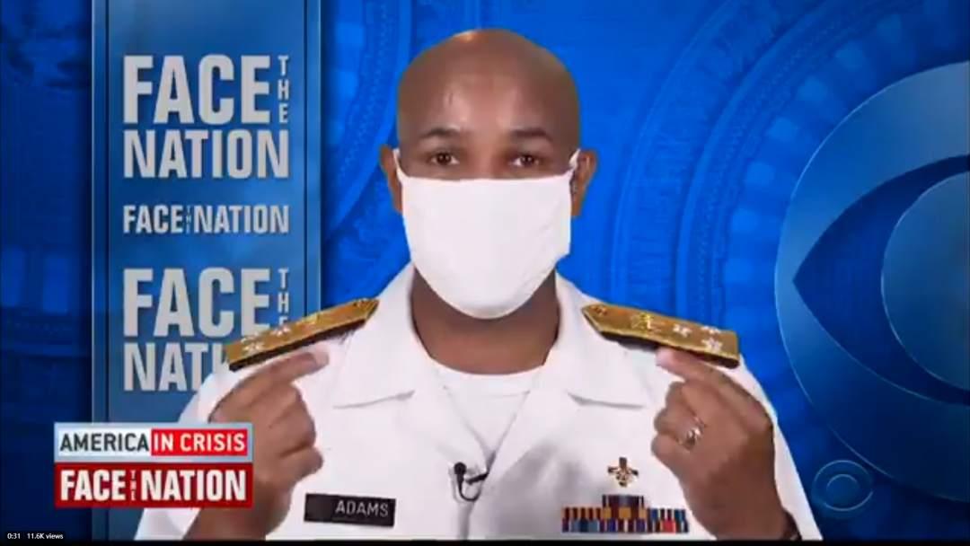 美联邦政府医务总监呼吁戴口罩:对新冠有更深