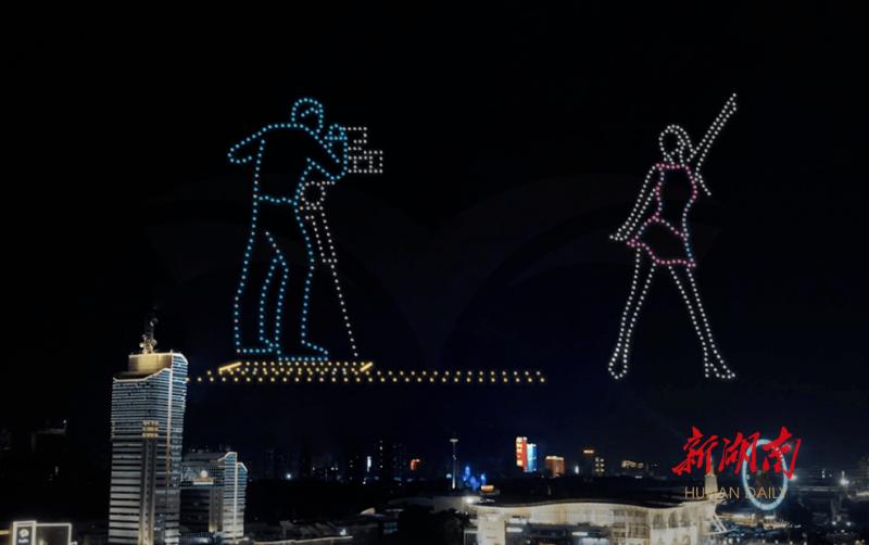 展望文化 科技无限未来 千架无人机夜空讲述金鹰节的故事