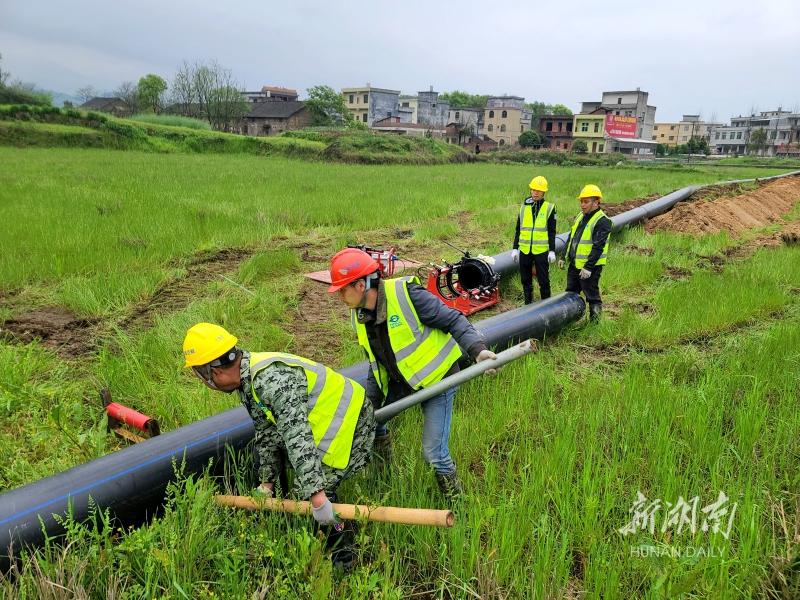 农村供水管网建设忙 新湖南www.hunanabc.com